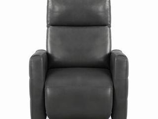 Rumi Collection 609045 35  Swivel Push Back Recliner with Elegant Round Metal Base Certi Pur Certified Foam Seating and Spacious Armrests for