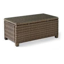 Asilomar Outdoor Wicker Glass Top Table by Havenside Home  Retail 144 99