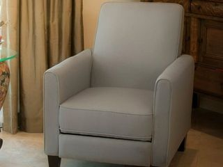 light Gray  Darvis Fabric Recliner Club Chair by Christopher Knight Home  Retail 233 49