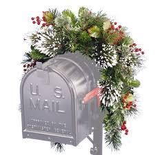 GREEN  3 foot Wintry Pine Collection Mailbox Swag
