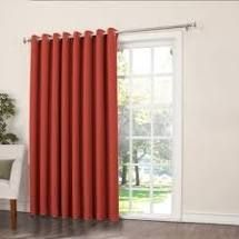 100 x 84   Brick  Porch   Den Nantahala Rod Pocket Room Darkening Patio Door Single Curtain Panel