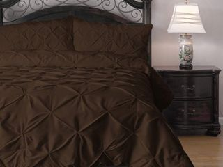 Kotter Home Pinch Pleat Pintuck Comforter Set  Retail 100 98