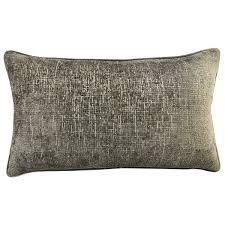 Silver  Rodeo Home Joelle Decorative luxury Chenille Rectangular lumbar Pillow