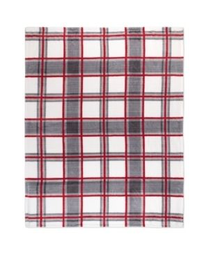 Null  Throw Flannel Printed Ribbed 50x60 Plaid Ultra Soft