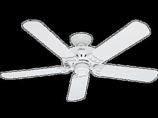 Hunter Fan Company 53125 Bridgeport 52 Inch Ceiling Fan with Five White Plastic Blades  White
