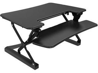 loctek R  lXR36B 36in  Sit Stand Desktop Riser  Black