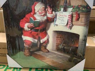 14x14 Santa Canvas