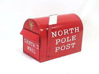 Sunset Vista Metal 12 25 in  H Christmas North Pole Post Mailbox