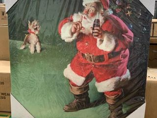 14x14 Santa   Puppy Canvas
