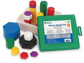 learning Resources Weight Pax Metric Weights  Set of 58 with Box
