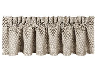 Five Queens Court Beaumont Champagne Straight Window Valance Retail 84 99