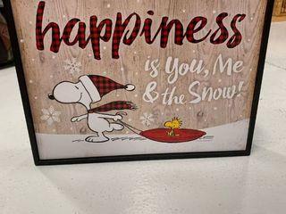 7x9 Snoopy   Woodstock Sign