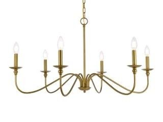 Rohan 6 light 48  Wide Taper Candle Chandelier