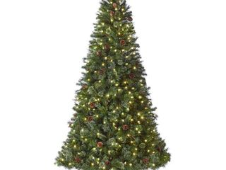 Home Accents Holiday 7 5 ft Alexander Pine Pre lit lED Artificial Christmas Tree with 550 SureBright Warm White lights