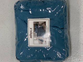 Krinkle Blue Twin Twin Xl Duvet Cover Set