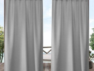 Exclusive Home Curtains 2 Pack Indoor Outdoor Solid Cabana Tab Top Curtain Panels
