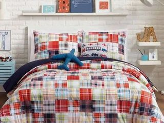 Urban Playground Bryce Comforter Set  1 sham and comforter only  Needs washed