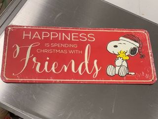 6x14 Red Snoopy Sign