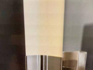 Allen   Roth Greer 1 light Nickel Modern contemporary Vanity light