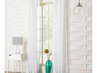 95 x50  Avril Crushed Texture light Filtering Rod Pocket Curtain Panel Pair