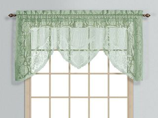 WINDSOR 72  X 36  WINDOW CURTAIN SWAGGER TOPPER SAGE  set of 2 swags