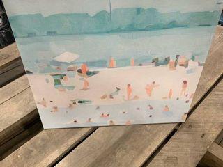 14x14 Beach Canvas II