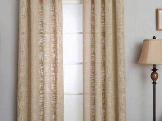 50 x95    lINEN  Miller Curtains MORRIS Grommet Panel