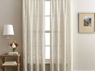 lynette 84  Poletop Curtain Panel linen