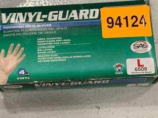 vinyl guard powdered vinyl gloves size large