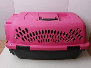 Small Pink Pet Carrier 22in l x 12 in H x 12in W