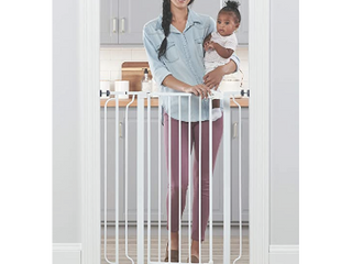 Regalo Easy Step Extra Tall Walk Thru Baby Gate  Includes 4 Inch Extension Kit  3 Pack of Pressure Mount Kit