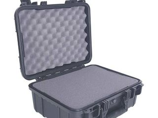 Condition 1 16  Medium Waterproof Protective Hard Case with Foam  Black   16  x 13  x 7   179 Watertight IP67 Dust Proof and Shock Proof