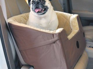 K H Pet Products Bucket Car Booster Seat  Tan  Small