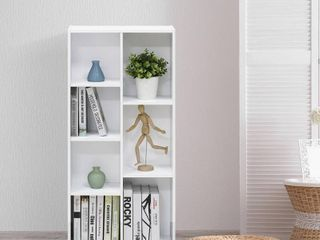 Furinno 11048WH 7 Cube Reversible Open Shelf  White