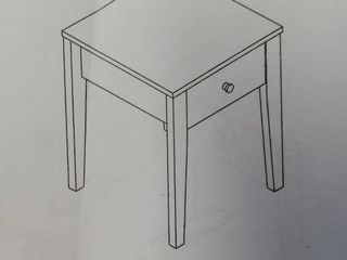 End Table w  Drawer  White