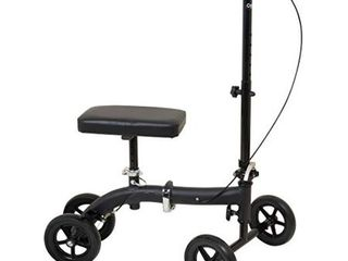 Carex Folding Knee Walker Scooter   Knee Scooter for Foot Injuries  Ankle Injuries  Broken Foot