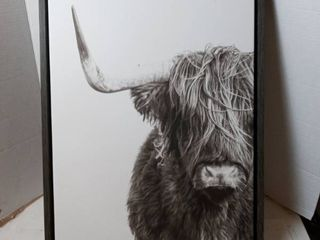 18in x 24in white and black animal wall art