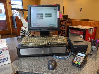 Planar Pos Station  With Cash Drawer  Epson Printer