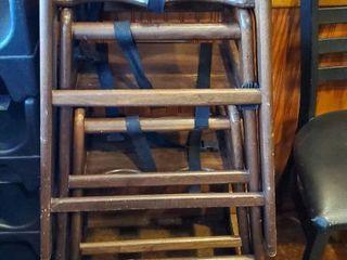 3  Wood High Chairs