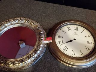 20in Clock And Mirror