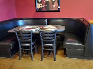 Black Booths With Tables