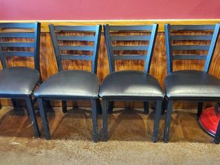 4  Black Metal Chairs
