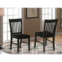 Set of 2   Black  Copper Grove Cronewood Black Wooden Seat Dining Chair  Set of 2  Retail 136 49
