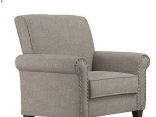 Copper Grove Herve Dove Grey linen Arm Chair   Retail 256 00
