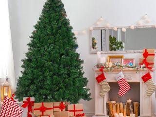 7 5 Ft Pre lit Pvc Artificial Christmas Tree Auto spread close Up Premium Spruce
