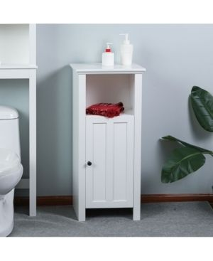 Includes Hardware   White   Floor Cabinet   Painted   MDF   Assembly Required   Traditional   12 24 Inches   Over 34 Inches  Retail 93 79