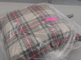 decorative plaid pillow