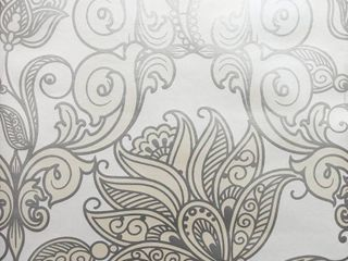 Brewster Wallcovering lila Floral Scrolls Pearl Paper Strippable Roll  Covers 57 8 sq  ft  White