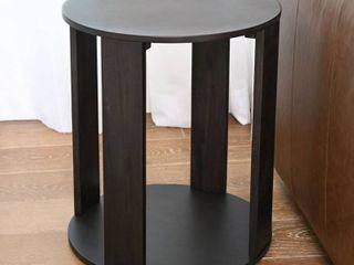 Kallan Round Wood End Table  Espresso