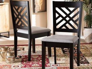 Grey  Caron Modern and Contemporary Upholstered Wood Dining Set